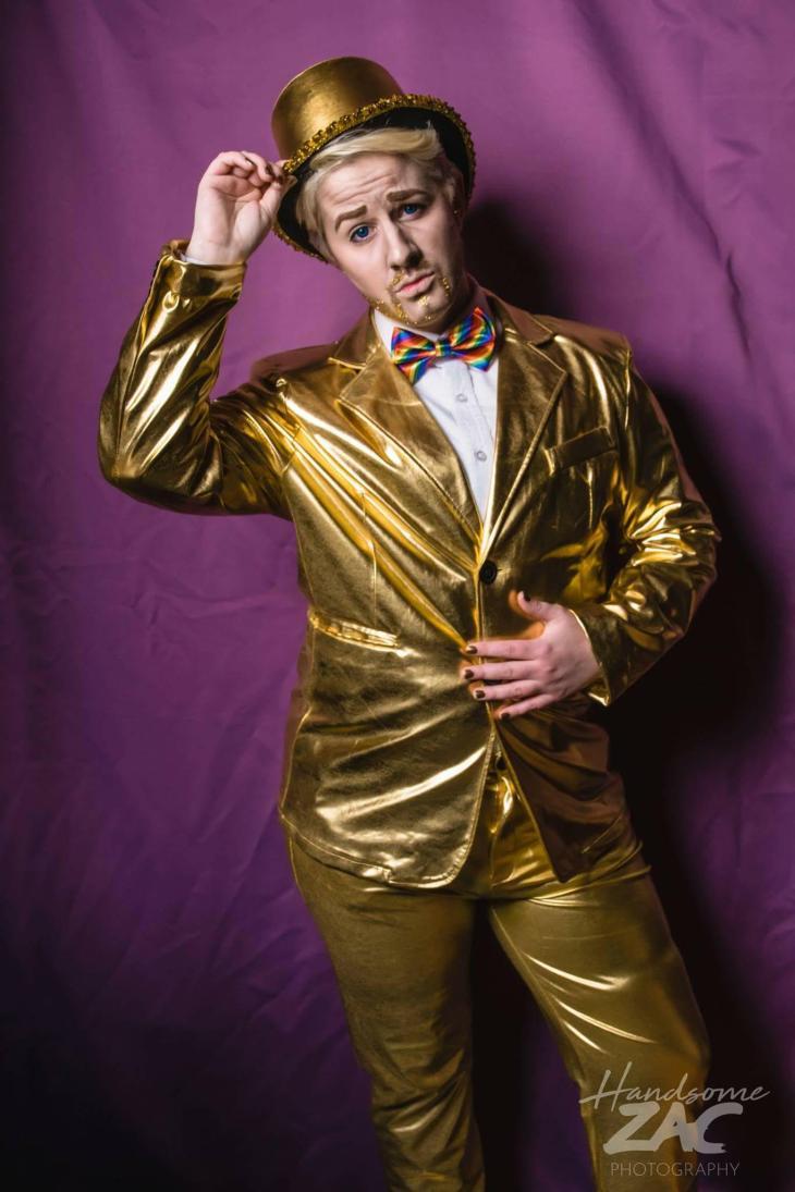 Master Cameron Eric Leon Gold Suit